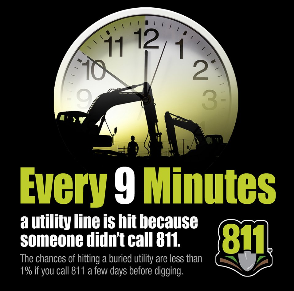 test Twitter Media - Don't be a statistic. Make the call to 8-1-1 at least three business days before digging to prevent damages and utility service interruptions. #Call811 https://t.co/Tg0K1uWyYF