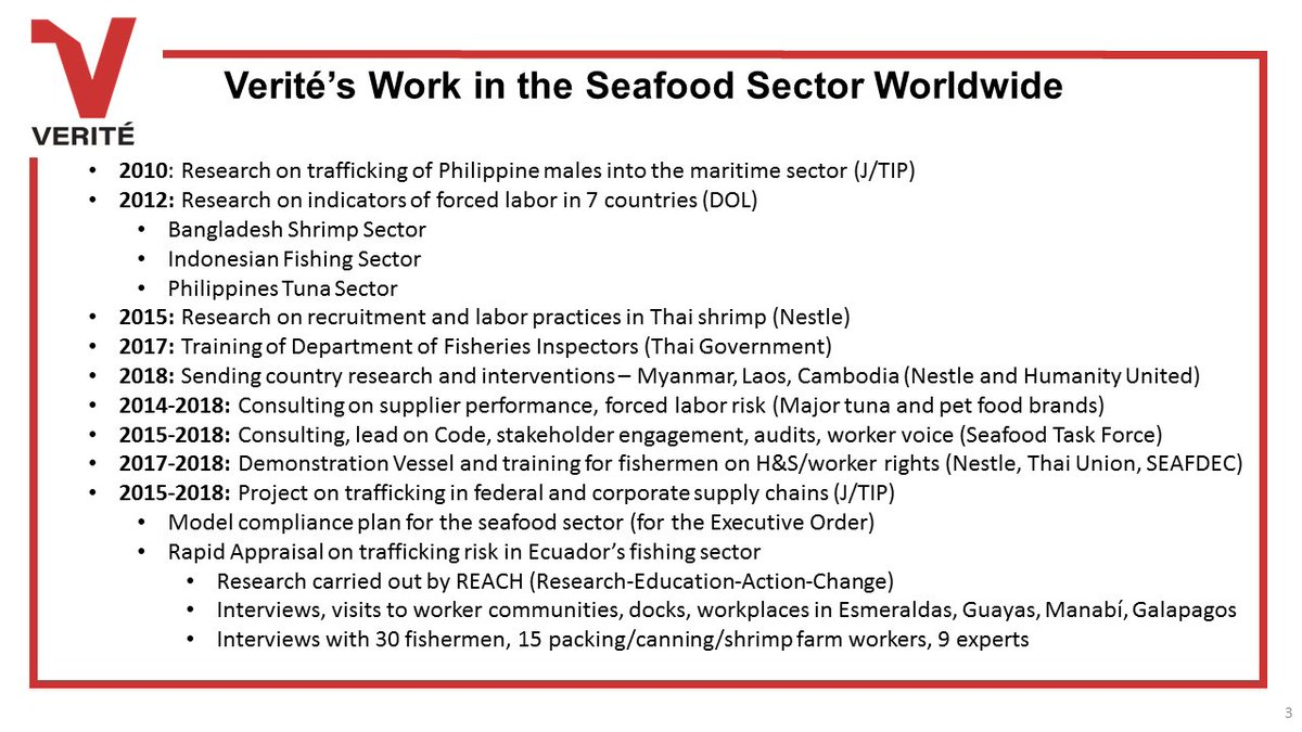 .@VeriteNews has a lot of resources on (anti)trafficking in the #fishing and #seafood sectors, says Quinn Kepes - check their #publications and work out here  https:// goo.gl/69goaY  &nbsp;  <br>http://pic.twitter.com/li8HougKiK