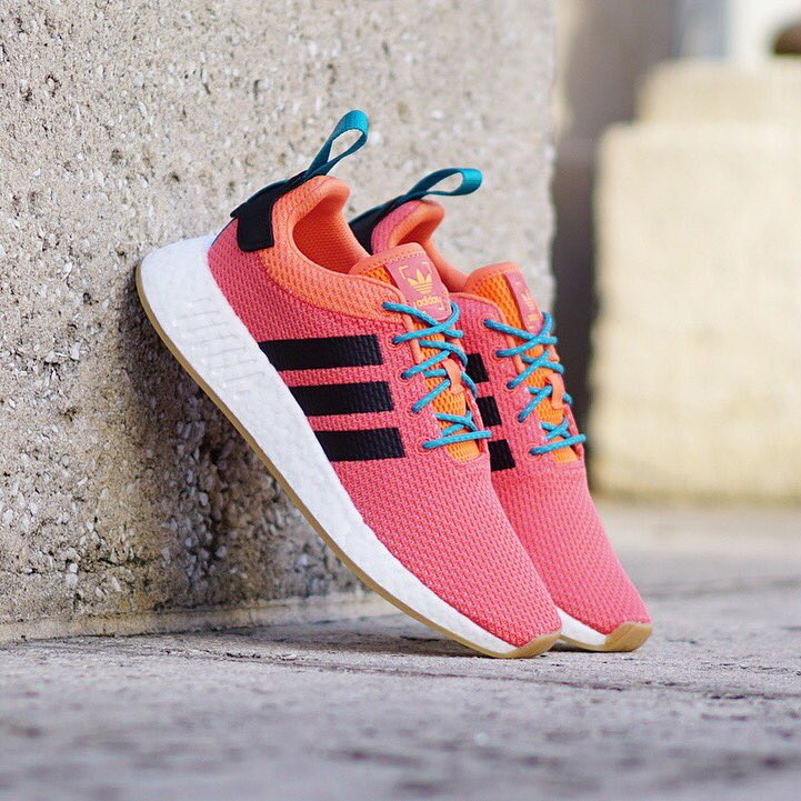 """15613ea44 Adidas Originals NMD R2 """"Summer"""" Hyper Orange with Gum Bottom. Now  Available InStore   Onlinepic.twitter.com 3R6g7s6Oap"""