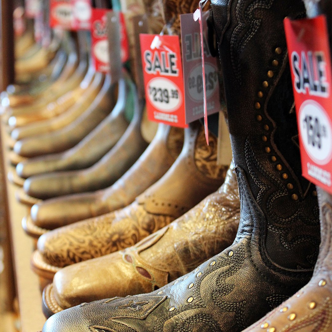 Shop Our Famous Boot Sale April 19th-29th. Save on all western, work and casual footwear in store and online http://www.lammles.com