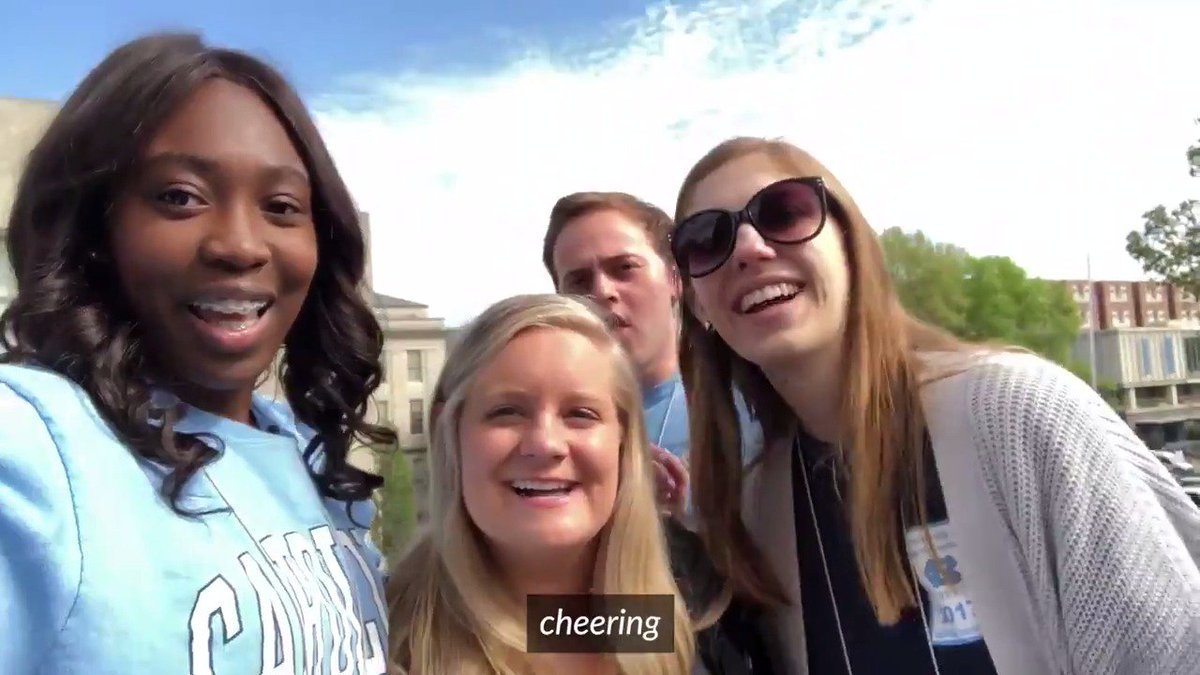 The Class of 2018 took part in a Carolina tradition by climbing the Morehead-Patterson Bell Tower. Congratulations seniors! 🎓 #UNCgrad ➡️ https://t.co/GeuCxwW9KQ https://t.co/9MIUSR0WOq