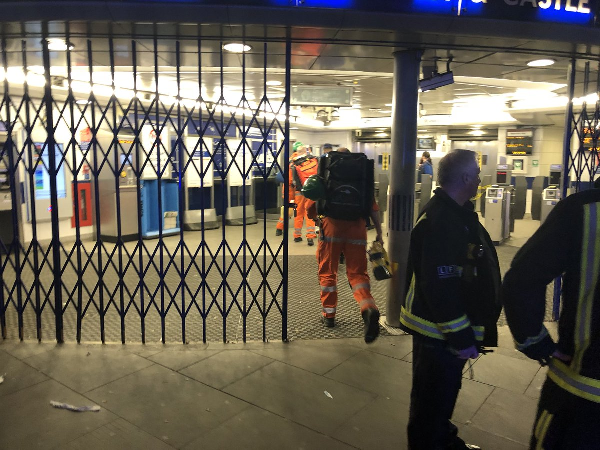 Elephant and Castle station closed. Emergency response huge but believed to be person under a train