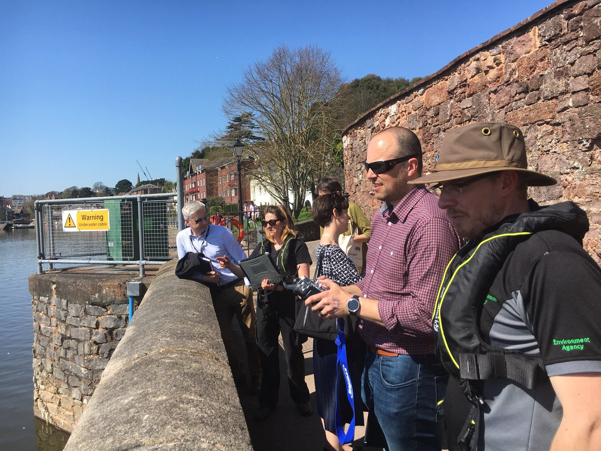 What an #incredible day in #Exeter @EnvAgencySW welcoming @HaynesBrown to see the work of our brilliant #Hydrometry team!   #Monitoring #Water #Data #ArcBoat<br>http://pic.twitter.com/Kr9Z49fQNZ