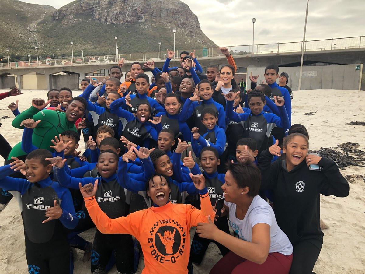 What @WavesforChange does to change the lives of youth in South Africa by using surfing as therapy has inspired us all, especially the story of one counselor, Michaylah who is giving kids hope & strength! #WWEHero #WWESouthAfrica @BeyondSport