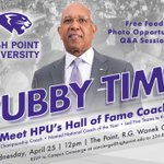 It's almost Tubby Time! On Reading Day you'll have a chance to meet Hall of Fame coach Tubby Smith! #GoHPU