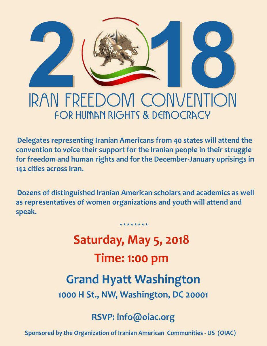2018 Iran Freedom Convention, to support #IranProtest for #FreeIran Washington, DC, May 5.  http:// bit.ly/2IVyLSi  &nbsp;     @nationalpost @CBCNews @CP24 @TorontoStar  #USA @ottawasuncom #ABPoli #MNpoli #Ottawa #Montreal #Toronto #News #IranUprising #IranianProtests #IranProtests<br>http://pic.twitter.com/PhNtFjrpDx