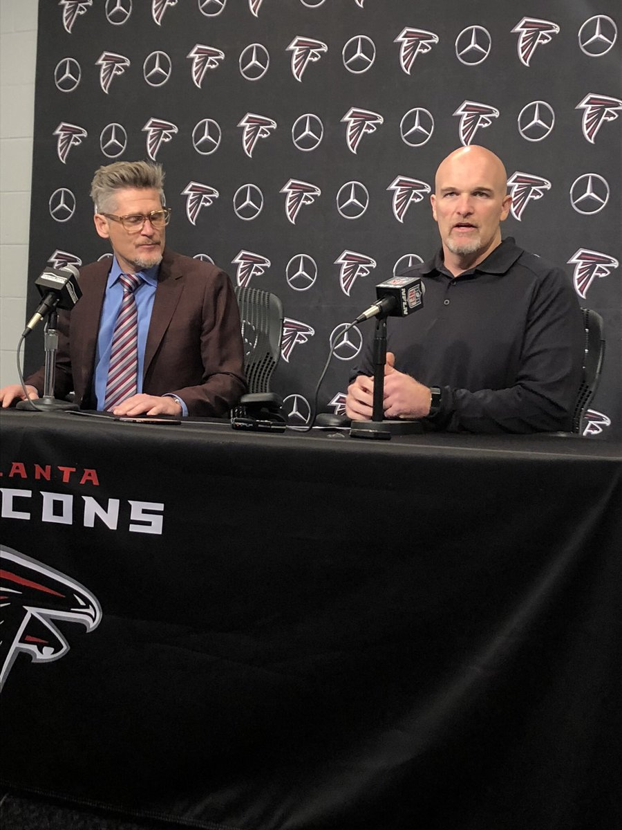 Falcons pre-draft media q&a with Thomas Dimitroff and Dan Quinn:  TD: This draft we're looking at a number of positions (for a 1st rounder) - previous years we were locked in to a position