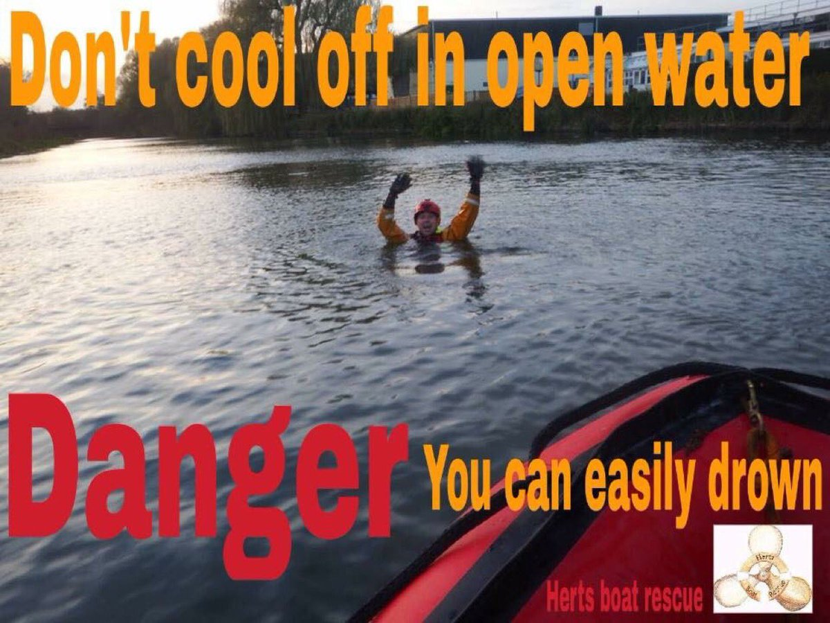In the warm weather don't be tempted to swim in open water! #think #watersafety   Use The #safe code 1-Spot the dangers! 2-Takes safety advice! 3-Don't go alone! 4-Learn what to do in an emergency!  #swim at your local swimming pool where it's safe  #hertfordshire #waterrescue<br>http://pic.twitter.com/QrAt7Pcu4E