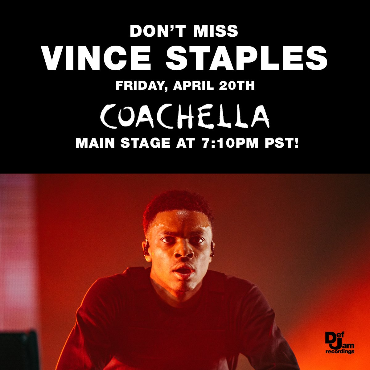 Who's ready for round 2 tomorrow with @vincestaples?