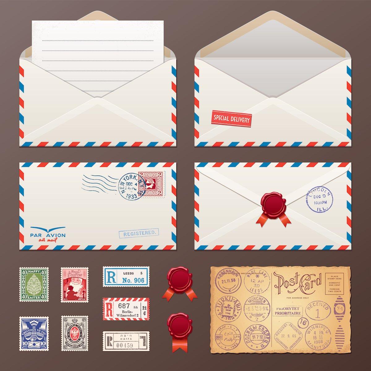Как на открытке указать авиапочта, днем рождения картинки