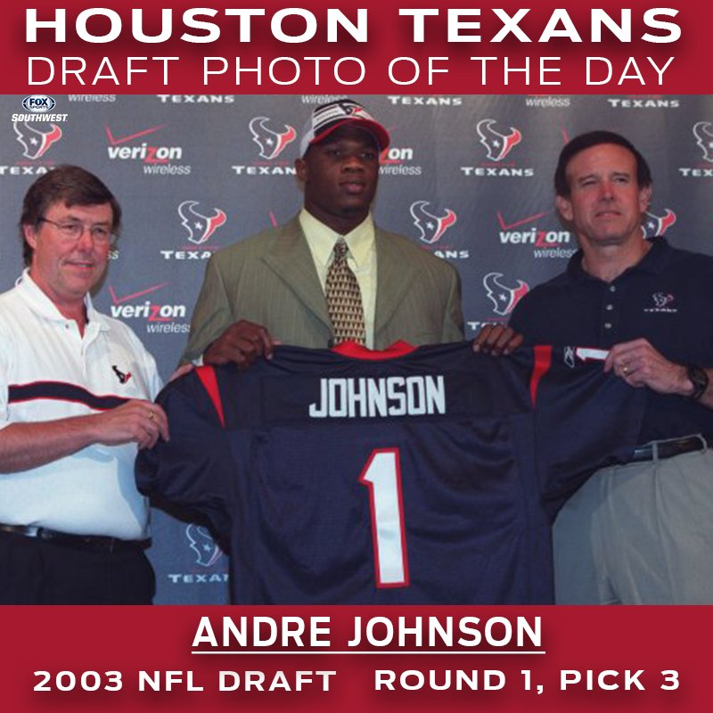 .@HoustonTexans #NFLDraft Photo of the Day:  With the 3rd pick of the 2003 NFL Draft the Houston Texans select WR Andre Johnson from the University of Miami.