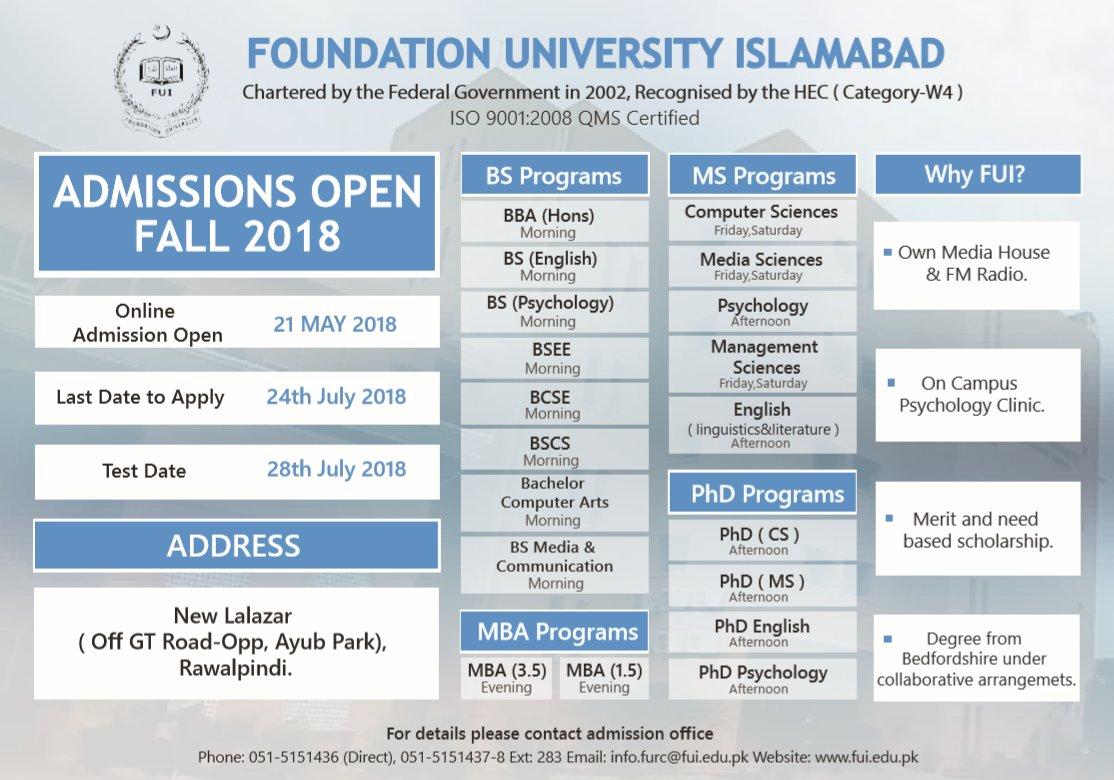 Foundation University Islamabad (@foundationuisb) | Twitter