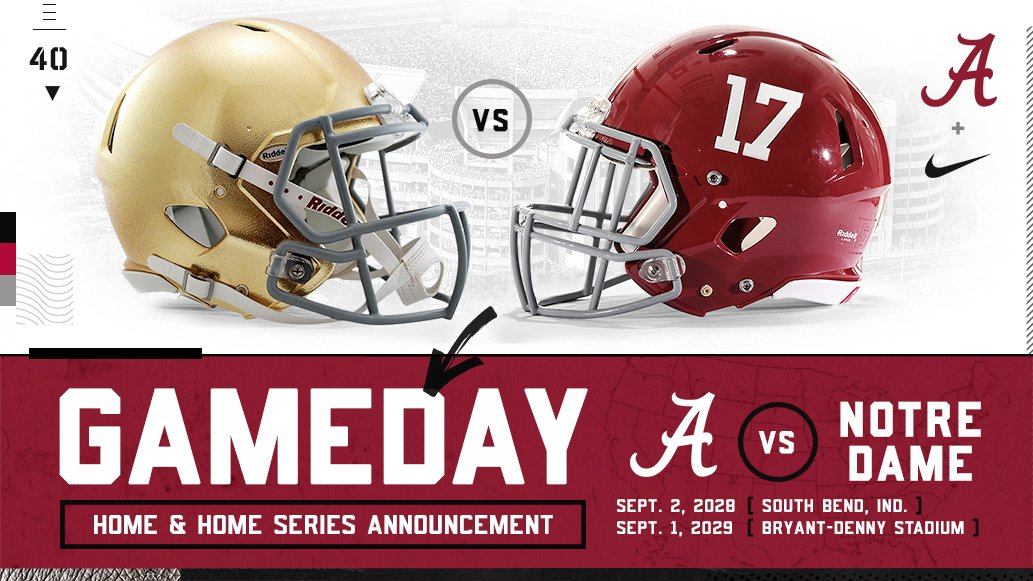 Alabama, Notre Dame schedule 2028-29 football series