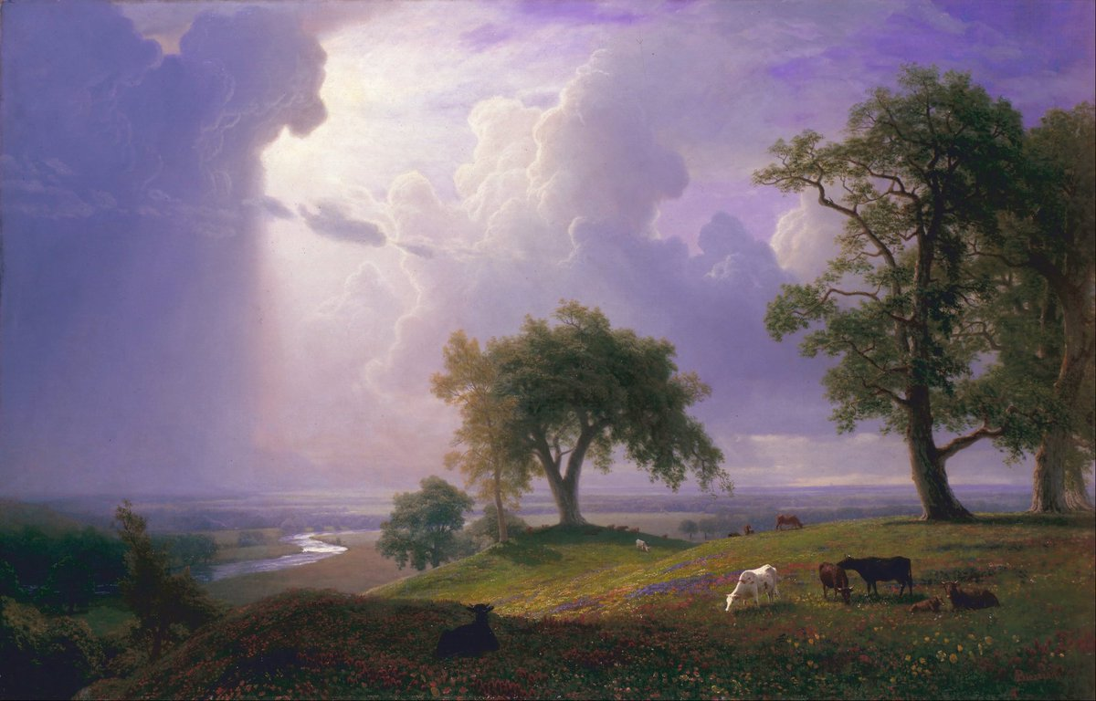 #HistoryofPainting  #Artist #Painter Albert Bierstadt(Jan 7, 1830 – Feb 18, 1902) was an Americanpainterbest known for his lavish, sweeping landscapesof theAmerican West. #Artwork #Painting #Art &quot;California Spring&quot;, 1875 #Location The Legion of Honor Museum @legionofhonor<br>http://pic.twitter.com/Ot11xPriJK