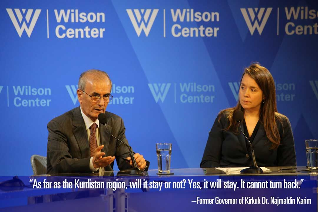 The Wilson Center hosted former Governor of Kirkuk, Dr. Najmaldin Karim, to discuss the recent Kurdish referendum fail, #Turkey and #Iraq's involvement, and parliamentary elections scheduled for May. Watch the recording and find selected quotes:  https://t.co/6TNuvHYujx