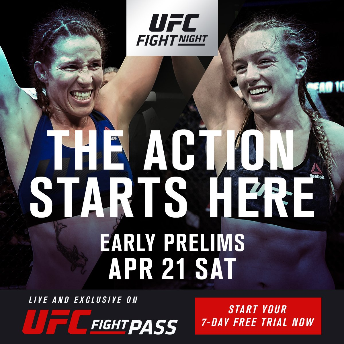 A bantamweight match-up between @LeslieSmith_GF & @AspenLaddMMA caps off the 3 exclusive #UFCFIGHTPASS Prelims bouts at #UFCAC on Saturday!