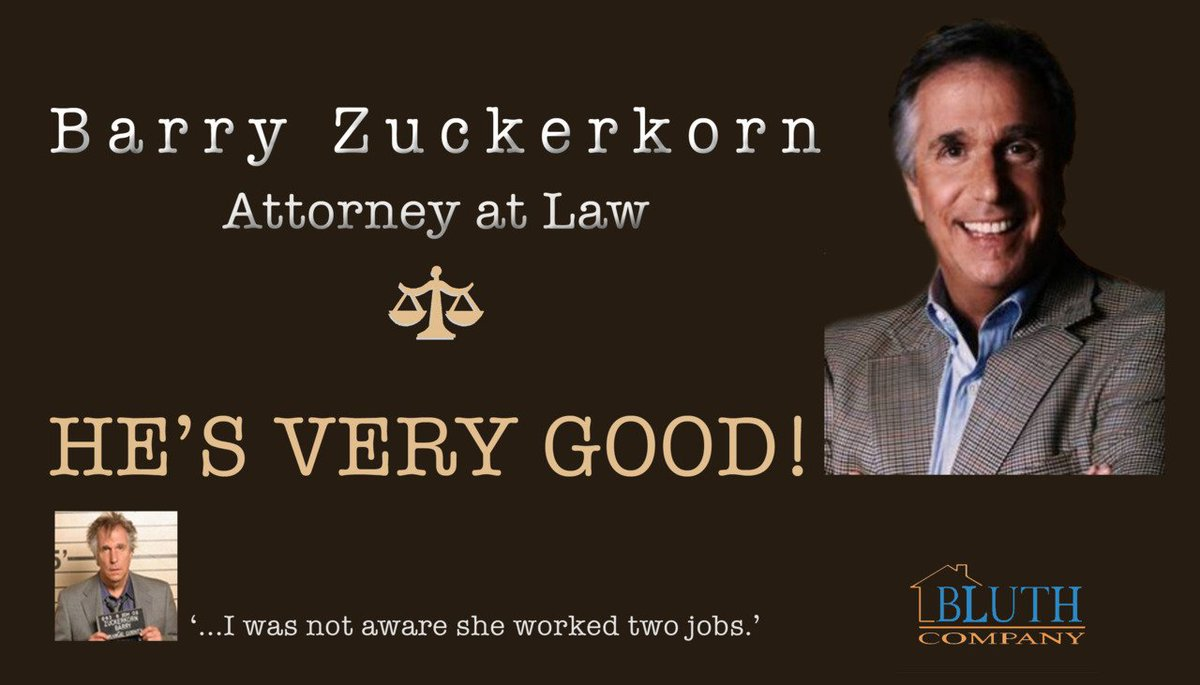 Wake me up when Barry Zuckerkorn gets called in.