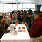 Image for the Tweet beginning: Enjoying the College Fair today!
