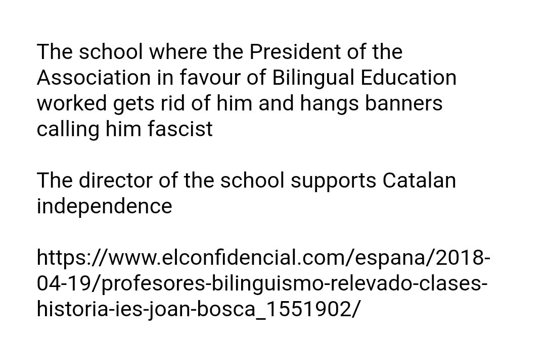 Catalan secessionists&#39; democracy is a #Fake  they get rid of those who hold different views We cannot even study in Spanish  @nytimes @washingtonpost @thetimes @FinancialTimes @daily @Independent @guardian @DailyMail @DailyMirror @heraldscotland @euronews @ONU_derechos<br>http://pic.twitter.com/0Cf4rNjHjC