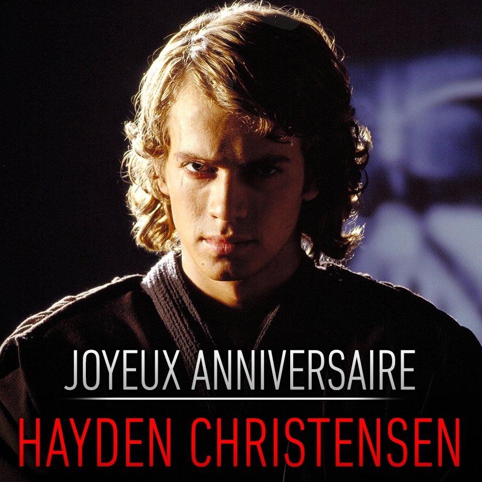 Joyeux anniversaire à l'Élu, Hayden Christensen. Déposez vos vœux en réponse.