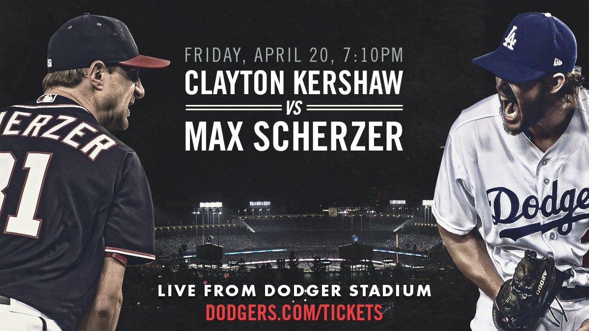 Kershaw. Scherzer. Tomorrow.  Be there:...