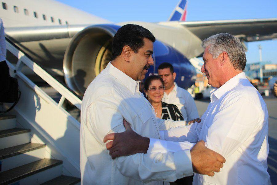Nicolás Maduro's photo on Miguel Díaz-Canel