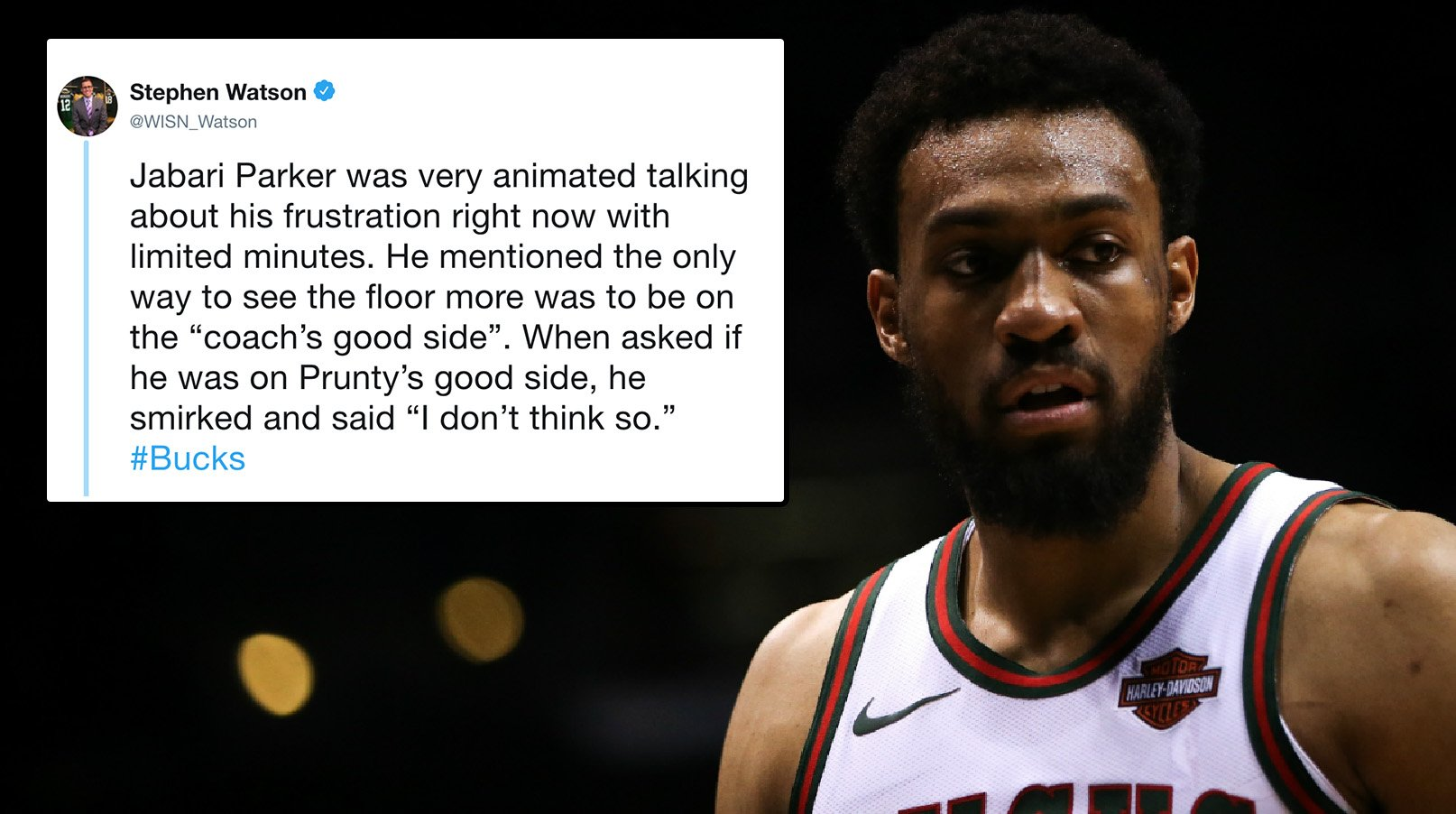 Jabari Parker unhappy with his playing time �� https://t.co/BHSfiXRW1E