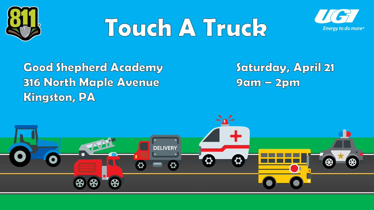 test Twitter Media - Join UGI this Saturday at Touch A Truck at Good Shepherd Academy in Kingston. We'll be there from 9am - 2pm, so stop by to say hi and check out the trucks! https://t.co/yaFKX1mqcV