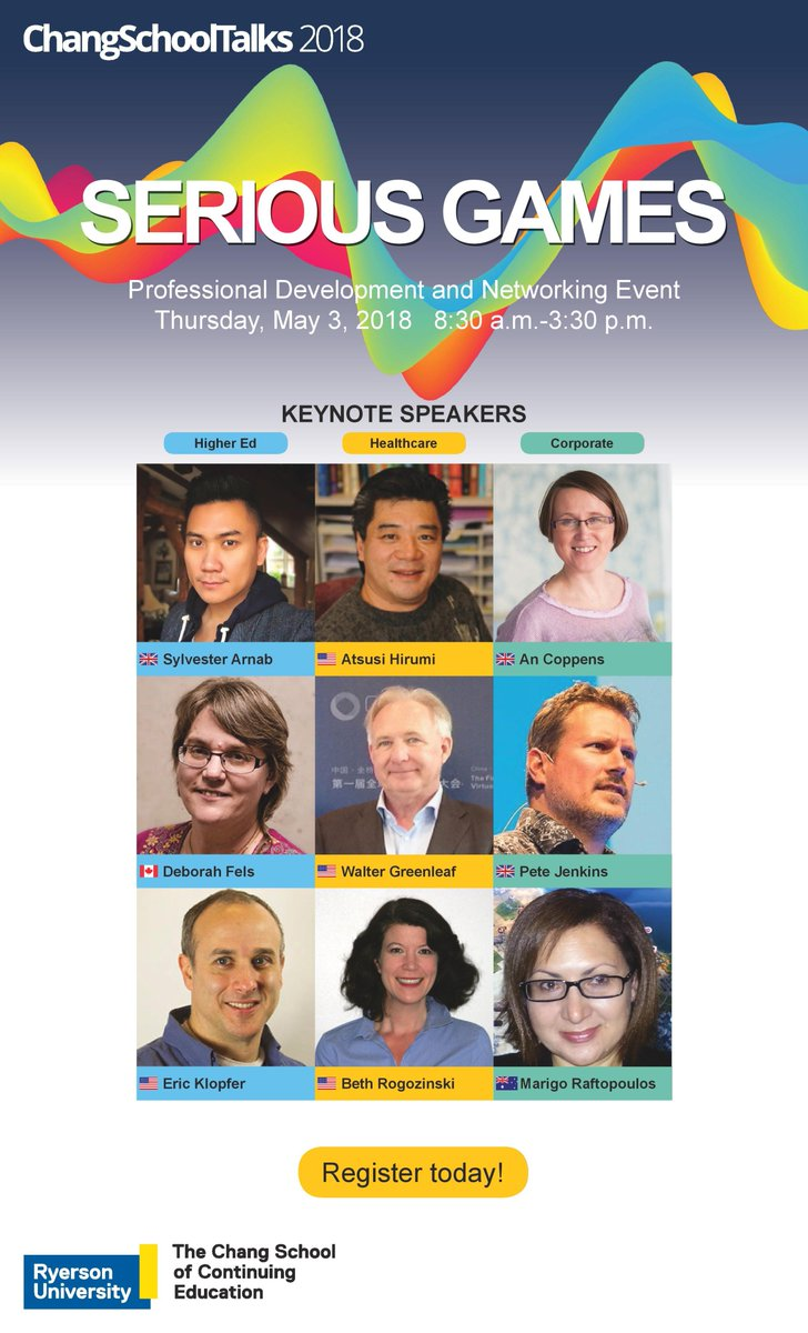 In exactly two weeks, all of these #SeriousGames gurus will breakdown how #Gamification is a leading tool to transform operations in #Business, #Healthcare and #Academia. Did you get your ticket yet? Space is limited!  http:// ow.ly/Vx9Z30irZ9W  &nbsp;  <br>http://pic.twitter.com/Lt98Q4i4Ve