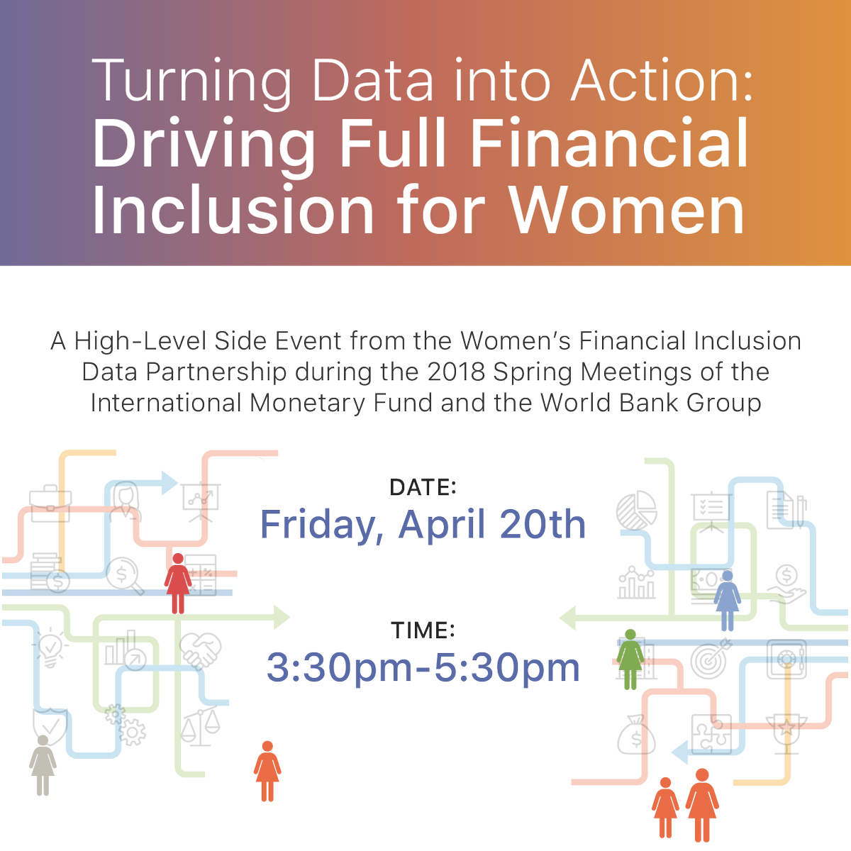 How can we use data to create real impact on women's #FinancialInclusion? Join the #WFID partnership for a live stream this Friday, April 20, at 3:30 PM to find out #SpringMeetings #IMFMeetings #WBGMeetings  https:// livestream.com/unfoundation/e vents/8162326 &nbsp; … <br>http://pic.twitter.com/zCapRnPP6v