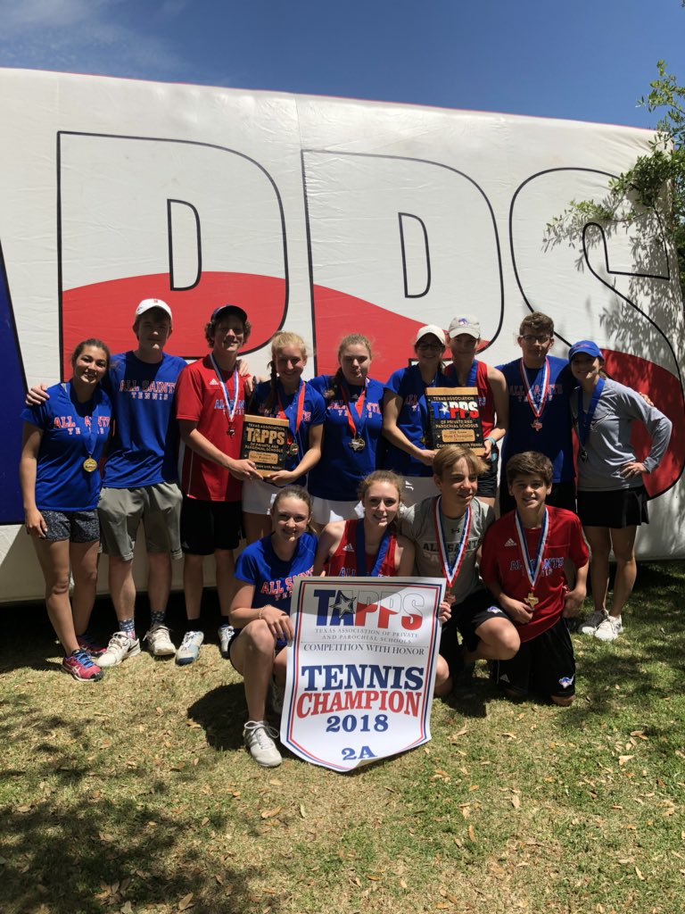 All Saints HS Tennis GIRLS -TAPPS 2A Championship Three-Peat Champions! BOYS TAPPS 2A Championship Runner -Up! @pchristy11 @LoneStarVarsity @AllSaintsPride @fox34 @PaulTubbs_KLBK