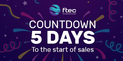 FTEC PRE-SALE COUNTDOWN    Get ready for our Pre-Sale! Bacause only 5 days left before the start of FTEC tokens sales!  #ICO #BTC #ETH #Technology #Invest #Trading #Crypto #Cryptocurrency <br>http://pic.twitter.com/zum376edud