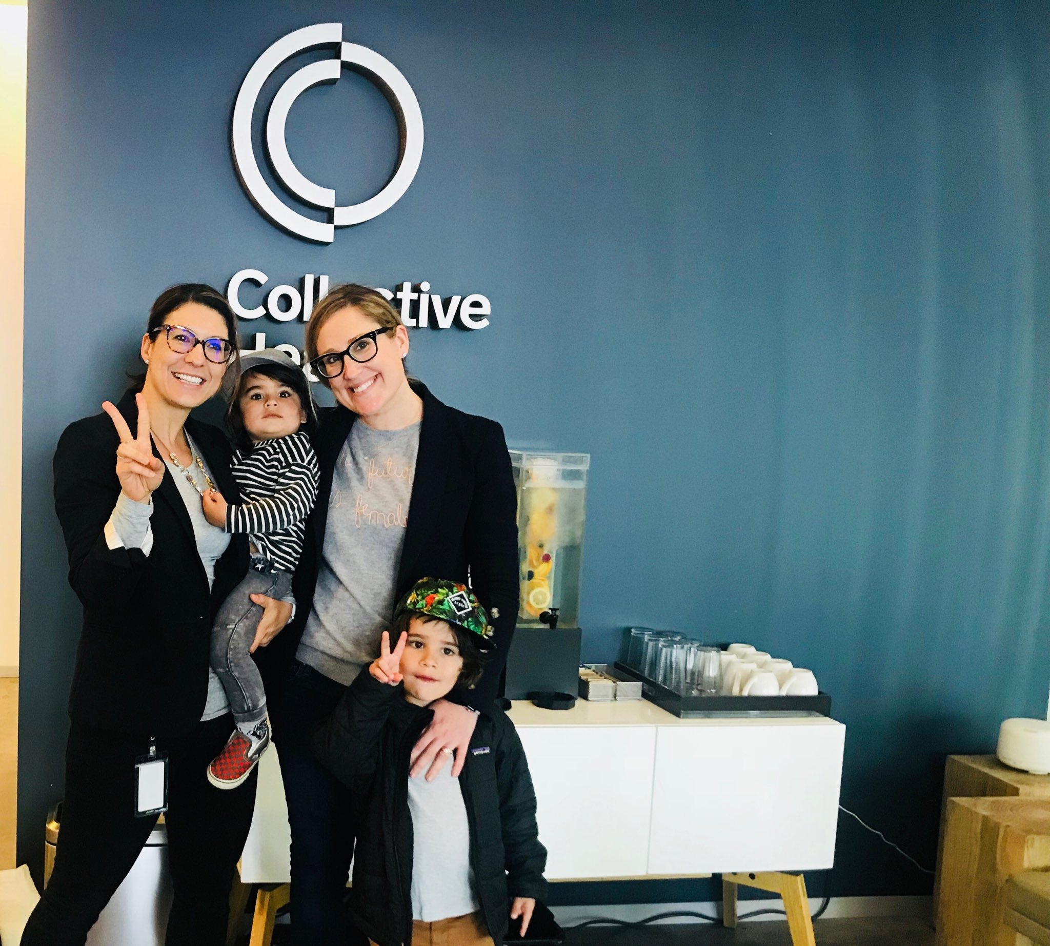 TFW my wolf cubs descend upon @Collective - note the massive amount of twinning with @thatjudegirl ✌����❤️ https://t.co/dXW19BNuJd