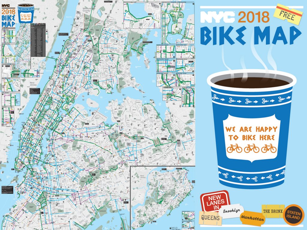 NYC DOT on Twitter The new 2018 NYC Bike Map is here httpstco