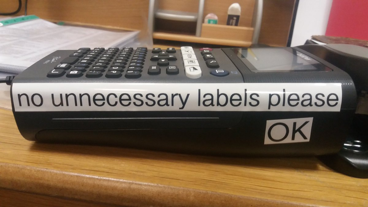 """#Archive30 Day 19 - Favourite Tool Definitely the label maker because it only comes out to play when a box of """"stuff"""" has been boxed, catalogued and is ready to go on the shelf! #labels #catalogue #archives<br>http://pic.twitter.com/RQmRpICWPN"""
