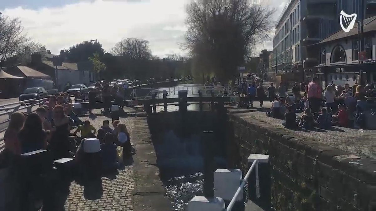 #WATCH The sun's out in Dublin - it's time to put the 'can' back in 'canal' - https://t.co/LAE2ztzJSN