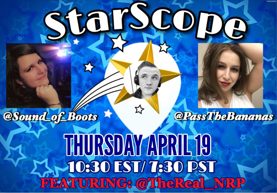You are a Star in someone's sky   TONIGHT!!! Join @PassTheBananas and myself in lighting up the #Periscope  sky on #StarScope!! Come stargaze at @TheReal_NRP   #BananaBoots #GoLive <br>http://pic.twitter.com/T7FfGxWhni