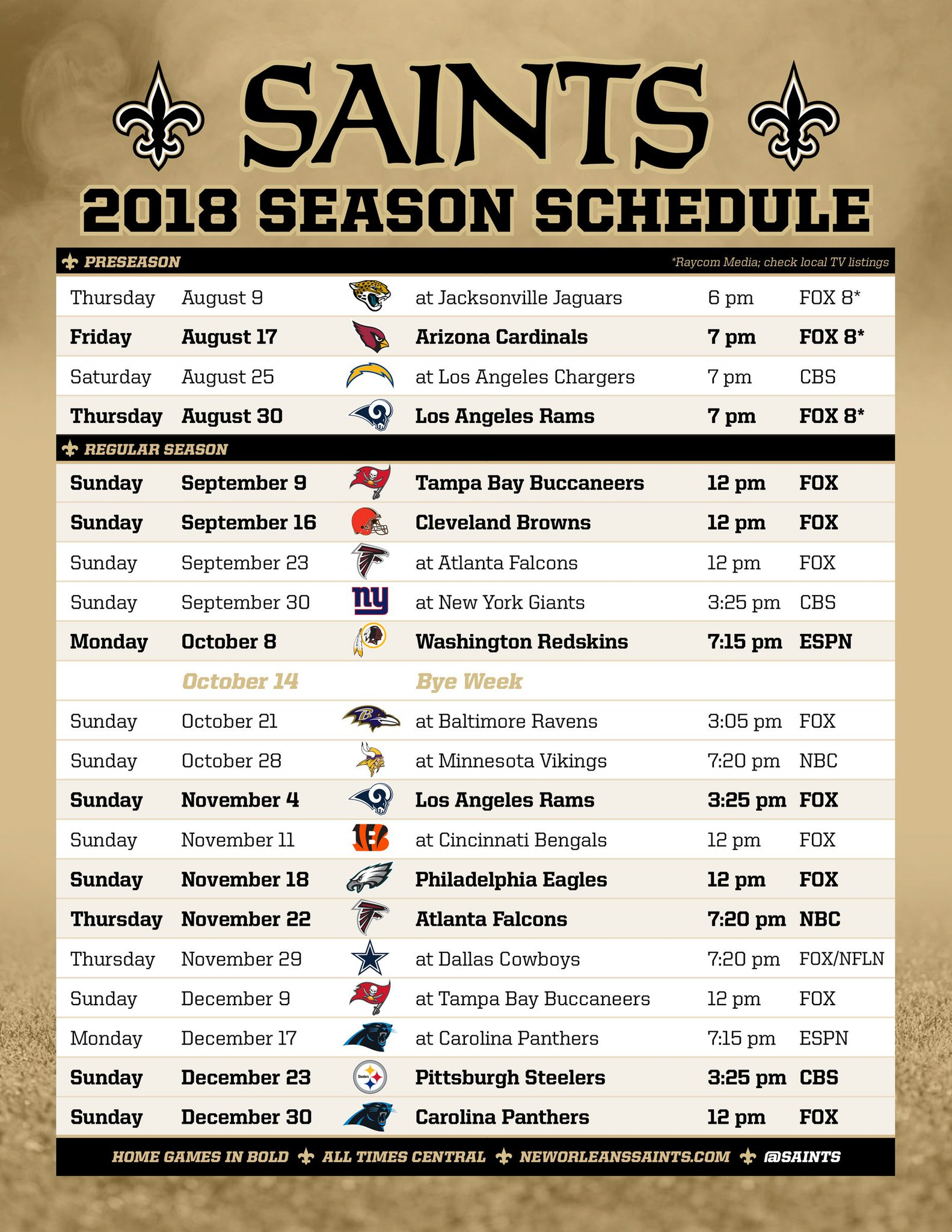 April Calendar New Orleans : New orleans saints on twitter quot pdf of the