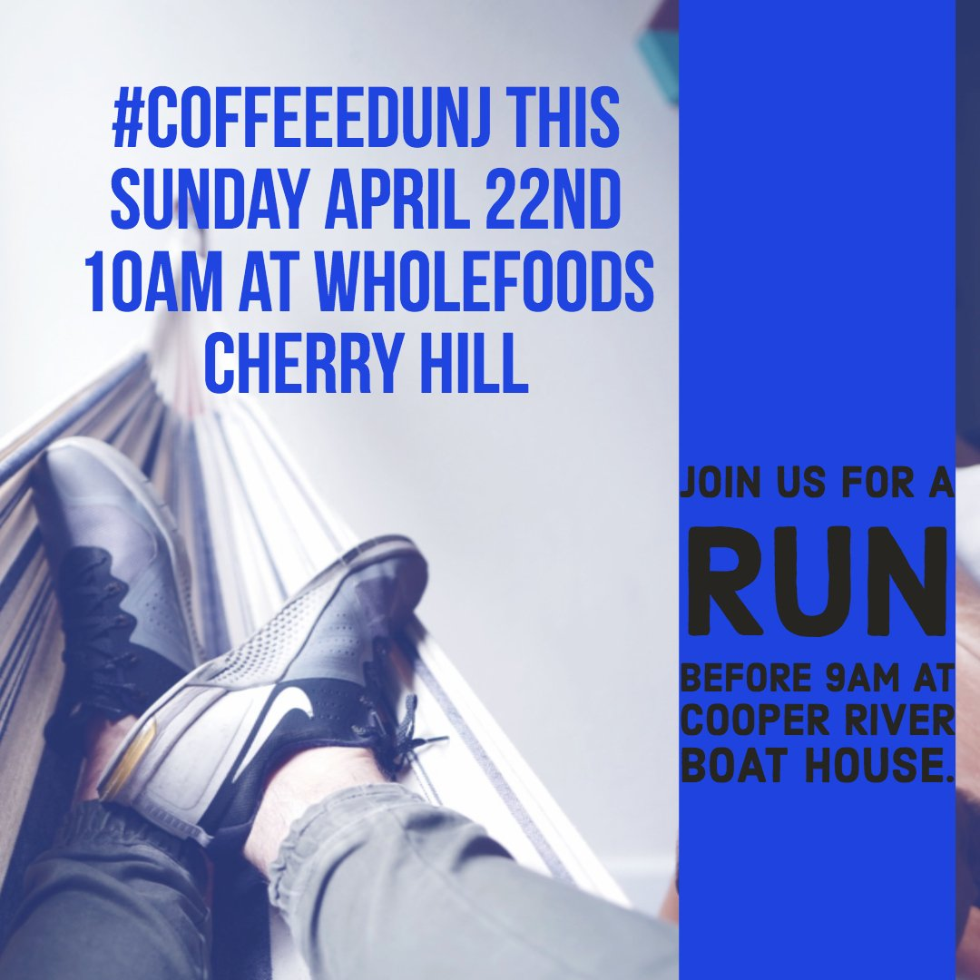 #CoffeeEduNJ is going to try something new. A run before! We will #RunLAP at 9am at Cooper River Boat House. Then, head over to Whole Foods in Cherry Hill for an awesome hour of conversation at 10am. If you are interested in the run reply or send a dm #coffeeedu #NJed #bfc530 <br>http://pic.twitter.com/IcDYFh6eIc