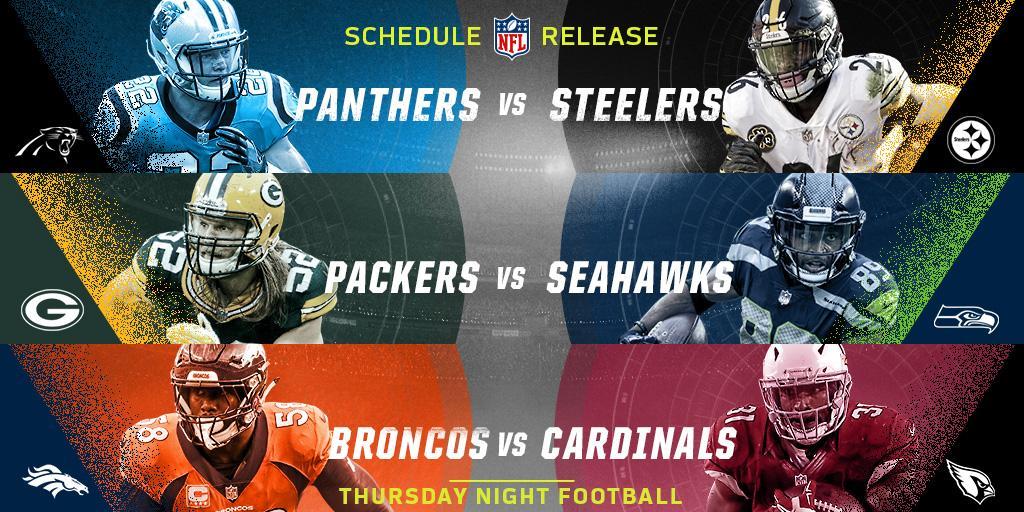 THURSDAY NIGHT FOOTBALL!  The full #TNF schedule is here: https://t.co/LWnAftwBj6 https://t.co/mPyPjZghmy