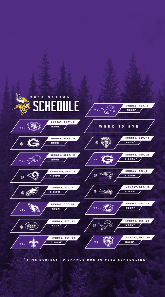 Mn Vikings Schedule 2020.Mn Vikings Schedule 2019 Minnesota Vikings Release 2019