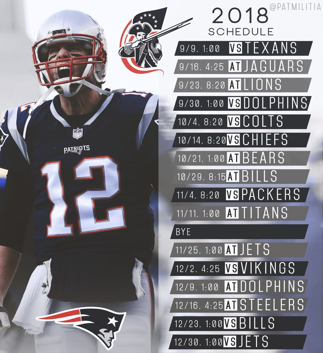 patriots schedule - photo #33