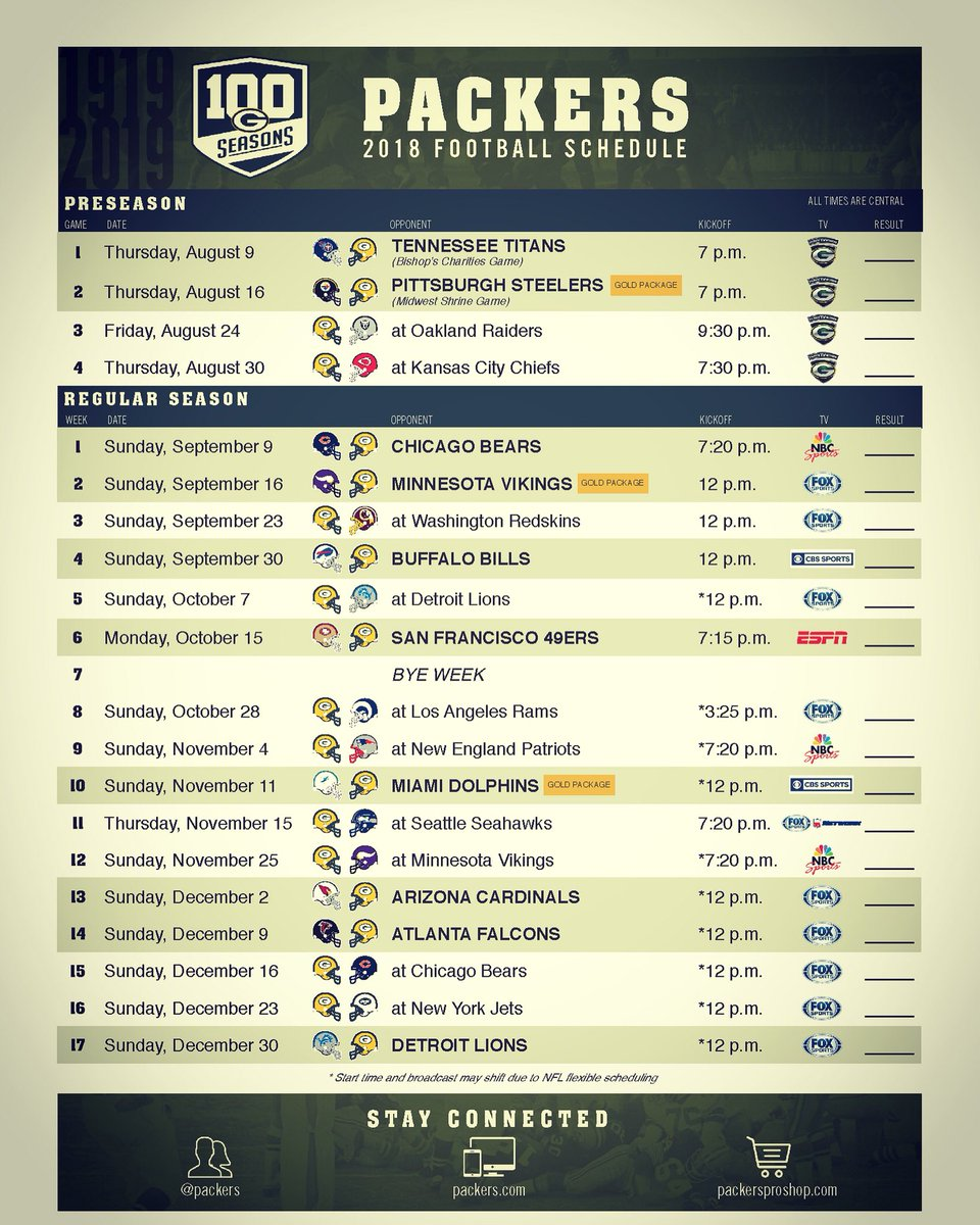 It's just an image of Ambitious Green Bay Packers Printable Schedule