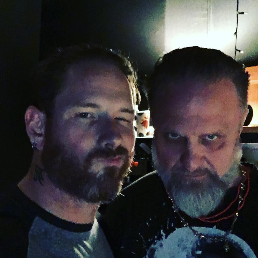 shawn crahan and corey taylor in studio 2018