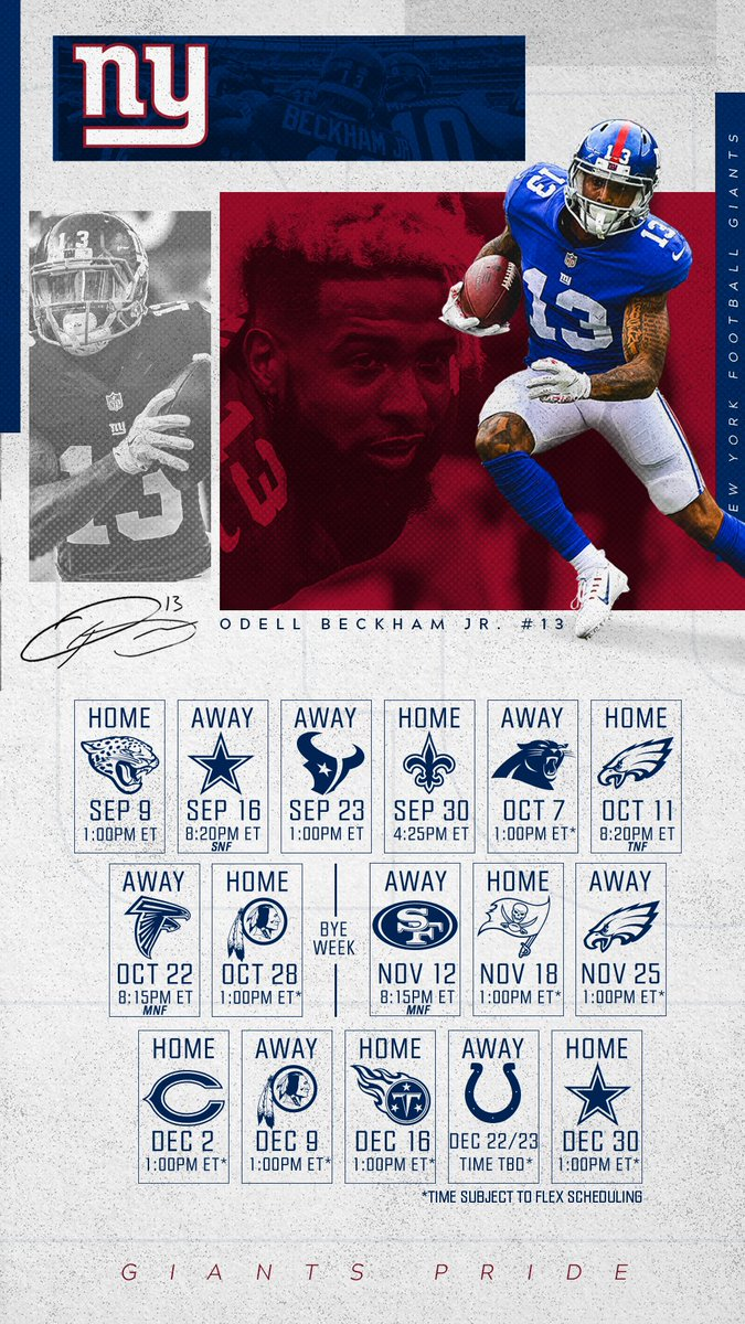 New York Giants On Twitter NYGiants Schedule Wallpapers For Your Phone