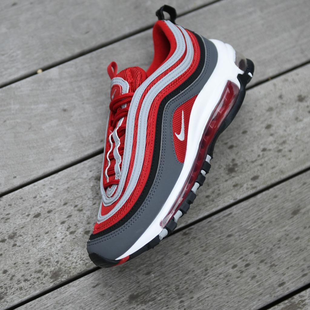 Runners Kids Nike Air Max Dark Grey Red Availabe Store