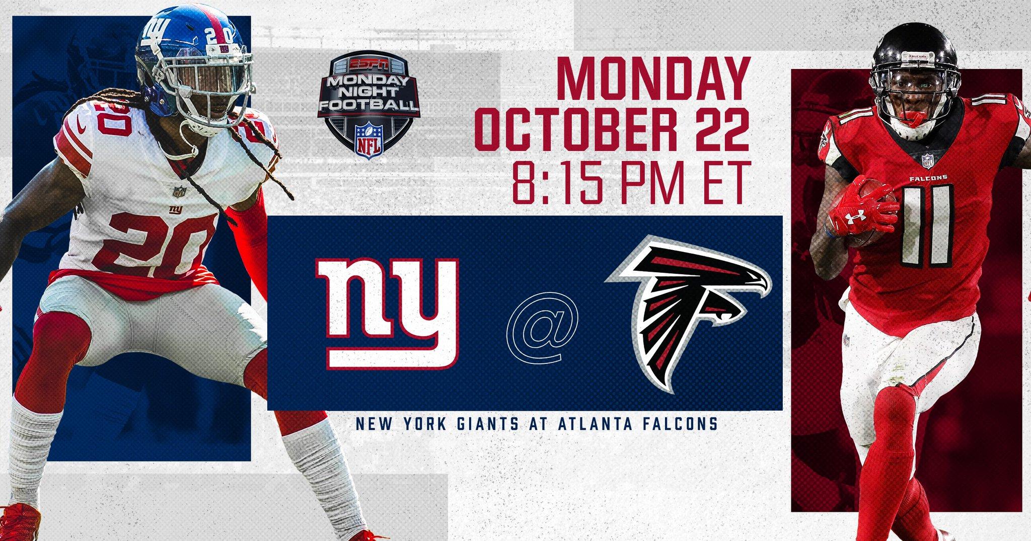 Week 7 MNF New York Giants Atlanta Falcons