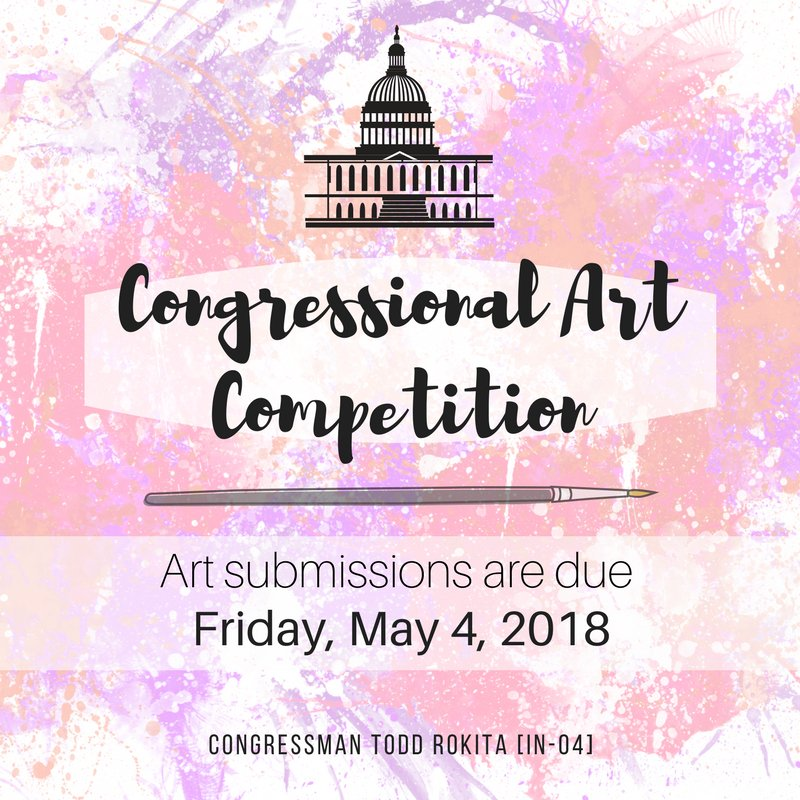Reminding all high school students to submit your art submissions to our Danville office by May 4th! You can check out all the rules to participate in the Congressional Art Challenge here: https://t.co/Dw2szbldb1