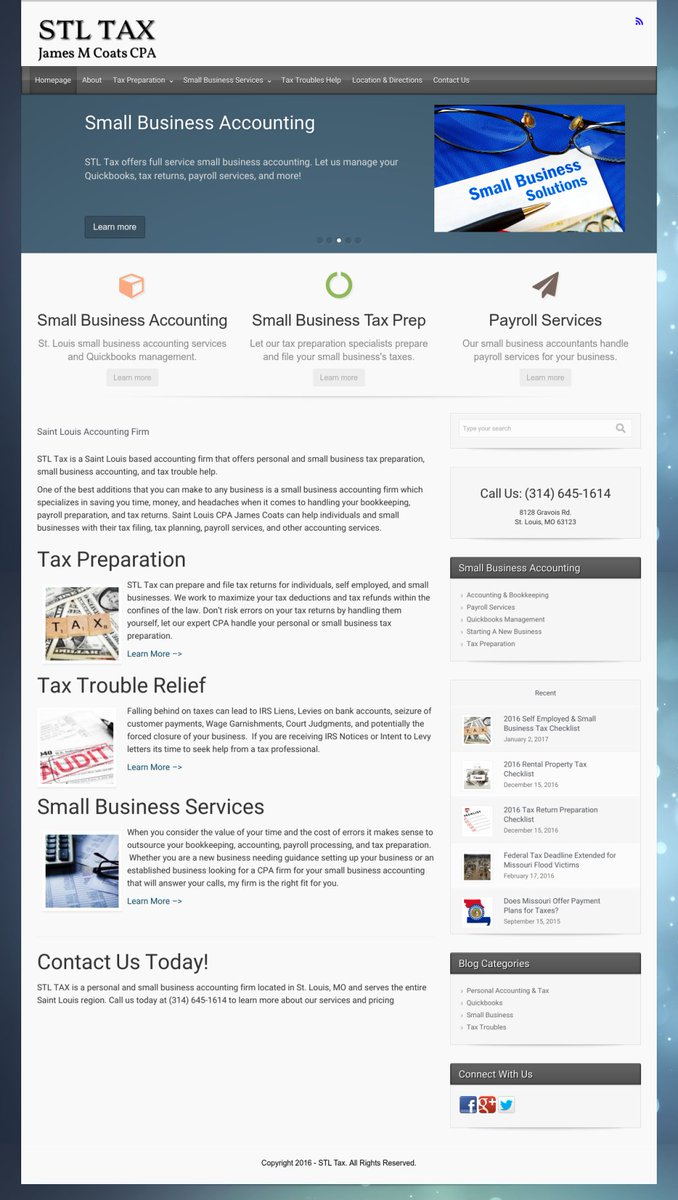 Five Star Creative On Twitter Wordpress Webdesign For Our Stlouis Based Client Stltax Looking For A Webdesigner Or Internetmarketing Visit Us At Https T Co C8w5zgayg2 Https T Co Rbxn87nejo