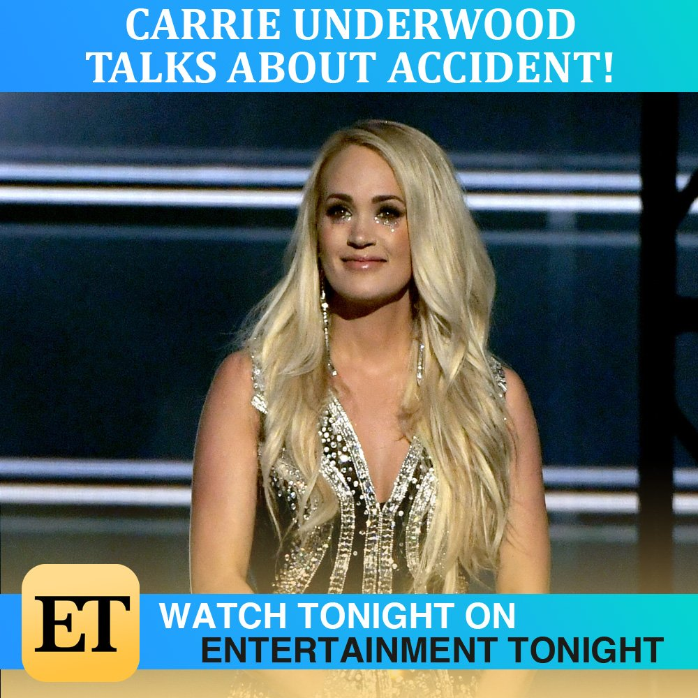 Tonight on @etnow - @carrieunderwood finally reveals the story behind the accident that left her injured 5 months ago!  Don't miss #ETnow immediately following @ABCWorldNews tonight at 7:30 on Channel 2!